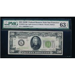 1928B $20 San Francisco Federal Reserve Bank Note PMG 63EPQ