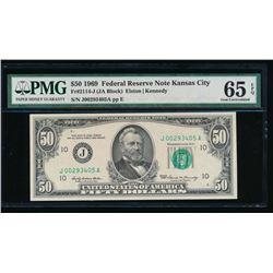 1969 $50 Kansas City Federal Reserve Note PMG 65EPQ