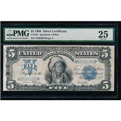 1899 $5 Chief Silver Certificate PMG 25