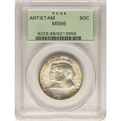 1937 Antietam Seventy Fifth Anniversary Commemorative Half Dollar Coin PCGS MS66