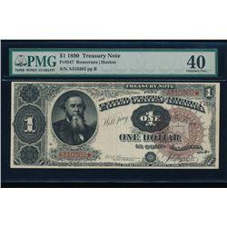 1890 $1 Treasury Note PMG 40