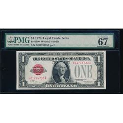 1928 $1 Legal Tender Note PMG 67EPQ