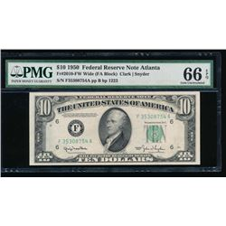1950 $10 Atlanta Federal Reserve Note PMG 66EPQ