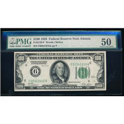 1928 $100 Atlanta Federal Reserve Note PMG 50