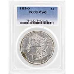 1883-O $1 Morgan Silver Dollar Coin PCGS MS63