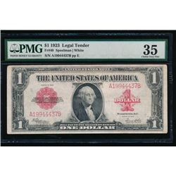 1923 $1 Legal Tender Note PMG 35