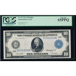 1914 $10 Dallas Federal Reserve Note PCGS 65PPQ