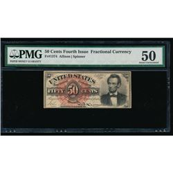 50 Cent Fourth Issue Fractional Note PMG 50