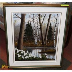 FRAMED PAINTED SIGNED BY ARTIST