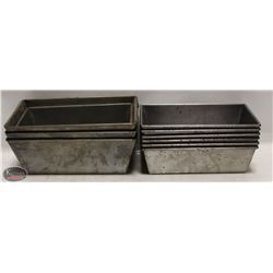 GROUP OF 9 ASSORTED SINGLE-LOAF BAKING PANS
