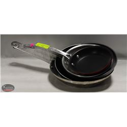 GROUP OF 5 ASSORTED FRYING PANS-HD ALUMINUM