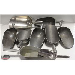 GROUP OF 9 ASSORTED COMMERCIAL SCOOPS