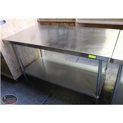 5' EFI S/S COMMERCIAL PREP-TABLE W/ UNDERSHELF