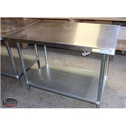 4' EFI S/S COMMERCIAL PREP-TABLE W/ UNDERSHELF