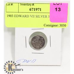 1903 EDWARD VII SILVER 5 CENT