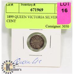 1899 QUEEN VICTORIA SILVER 5 CENT