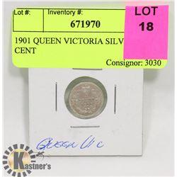 1901 QUEEN VICTORIA SILVER 5 CENT