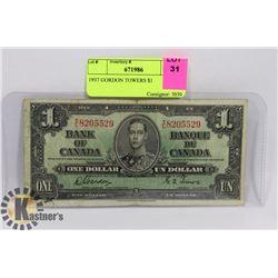 1937 GORDON TOWERS $1