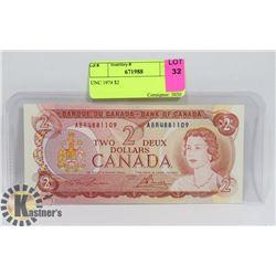 UNC 1974 $2