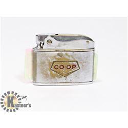 VINTAGE GOLDEN BELL COOP AUTOMATIC LIGHTER
