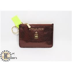 NEW AUTHENTIC MICHAEL KORS COIN POUCH - LEATHER