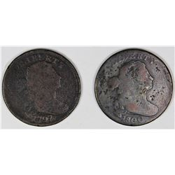 1797, 1800/79 TOUGH EARLY LARGE CENTS