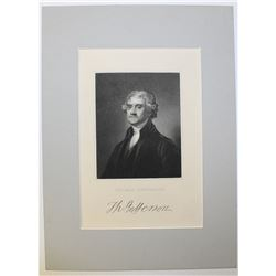 STEEL ENGRAVING OF THOMAS JEFFERSON