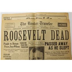 NEWSPAPER 1919 ROOSEVELT DEAD