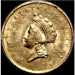 1855 $1.00 GOLD TYPE 2