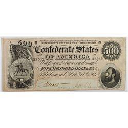 1864 $500 CONFEDERATE STATES OF AMERICA