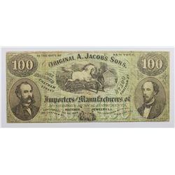 1860'S NEW YORK ADVERTISING NOTE