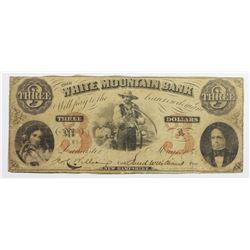 1860 $3 WHITE MOUNTAIN BANK