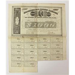 1863 $1000 CONFEDERATE WAR BOND