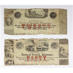 (2) 1862 TOWN OF NEWARK