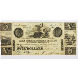 1840 $5 CHESAPEAKE & OHIO CANAL CO.