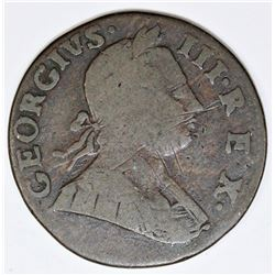 1775 GREAT BRITAIN 1/2 PENNY TORY STRIKE