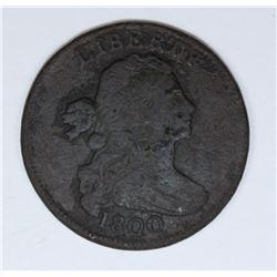 1800 LARGE CENT F/VF DETAILS