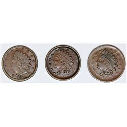 3 DIFFERENT CIVIL WAR INDIAN HEAD TOKENS