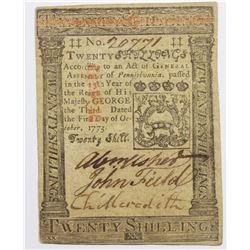 1773 TWENTY SHILLINGS