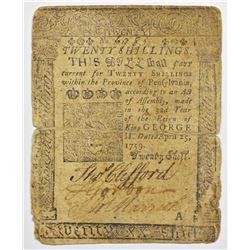 1759 BENJAMIN FRANKLIN NOTE