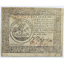 9-26-1778 CONTINENTAL CURRENCY