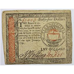 1-14-1779 CONTINENTAL $65