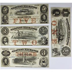 1857 $1, $2, $3 AND $5 NOTES