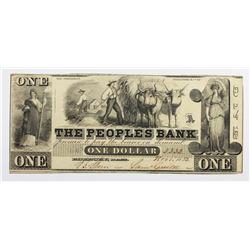 VERY RARE 1852 PEOPLE'S BANK