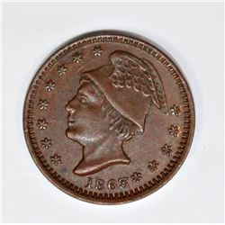 1863 CIVIL WAR STORE CARD TOKEN OSHKOSH, WI