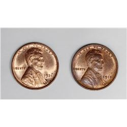 2 HIGH GRADE EARLY LINCOLN CENTS