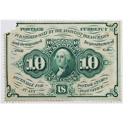 TEN CENT POSTAGE CURRENCY