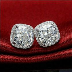 Stunning Diamond 4.25 Cts Earrings