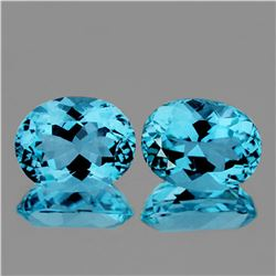 Natutal AAA Sky Blue Topaz Pair 9x7 MM - Flawless