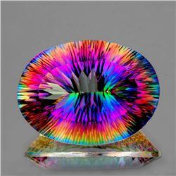 Natural Rainbow Mystic Quartz 20x15 MM - VVS